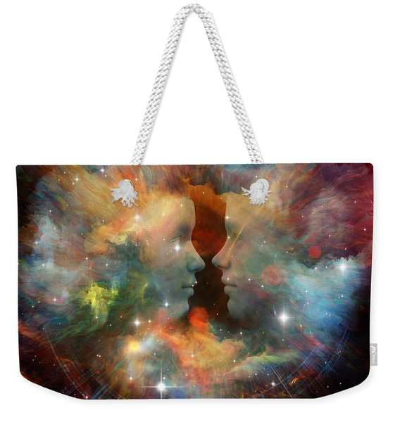 At The Beginning Weekender Tote Bag