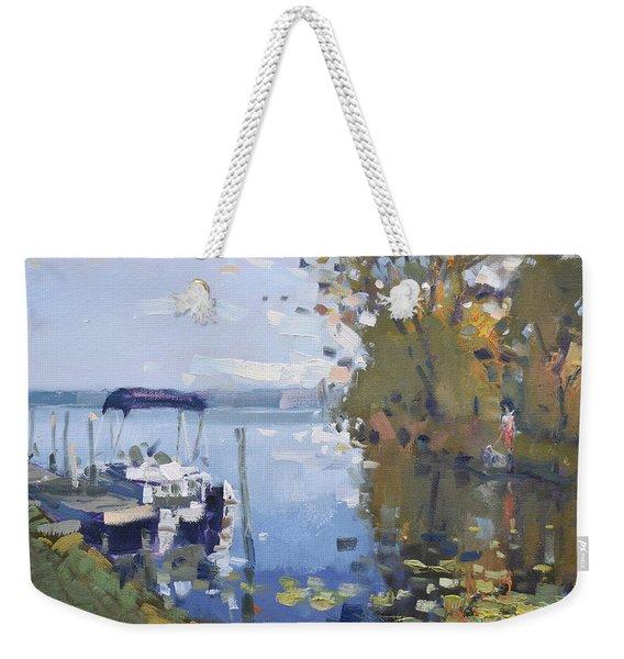 At The Dock Weekender Tote Bag