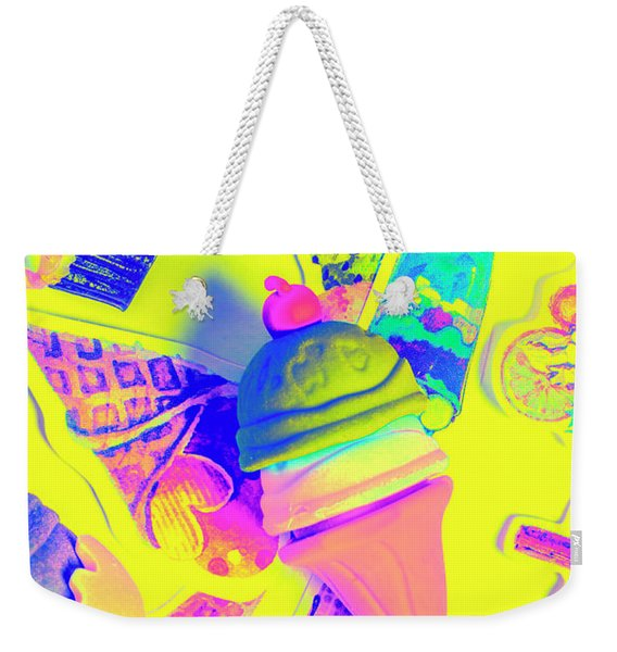 At The Waffle House Weekender Tote Bag