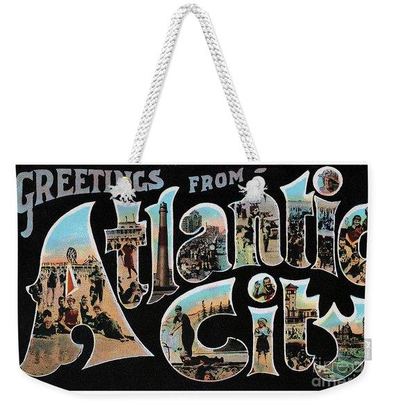 Atlantic City Greetings #1 Weekender Tote Bag