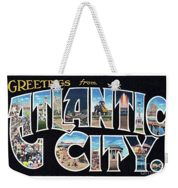 Atlantic City Greetings #2 Weekender Tote Bag