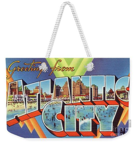 Atlantic City Greetings #4 Weekender Tote Bag