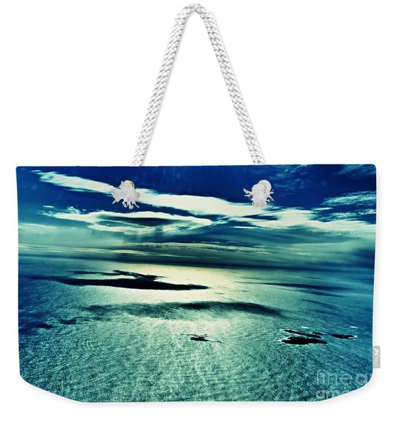 Atlantic Ocean With Islands And Clouds Weekender Tote Bag