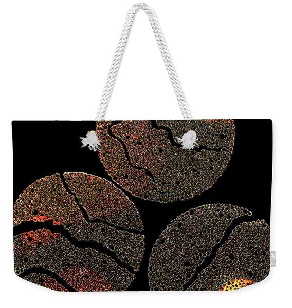 Atoms Ink Artwork Weekender Tote Bag