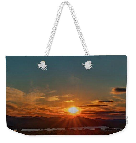 Attean Pond Sunset Weekender Tote Bag