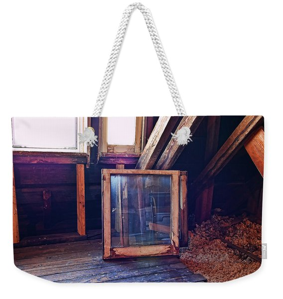 Weekender Tote Bag featuring the photograph Attic #1 by Mark Jordan