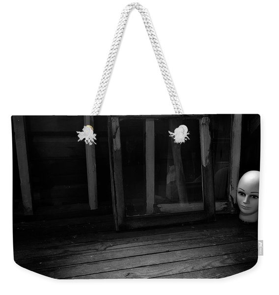 Weekender Tote Bag featuring the photograph Attic #2 by Mark Jordan