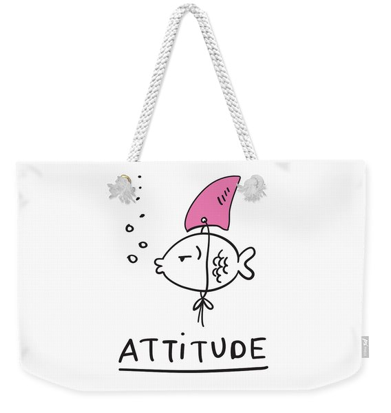 Attitude - Baby Room Nursery Art Poster Print Weekender Tote Bag