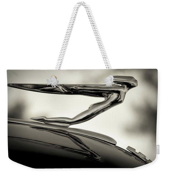1936 Auburn 851 Sc Boattail Speedsterdster Hood Ornament Weekender Tote Bag
