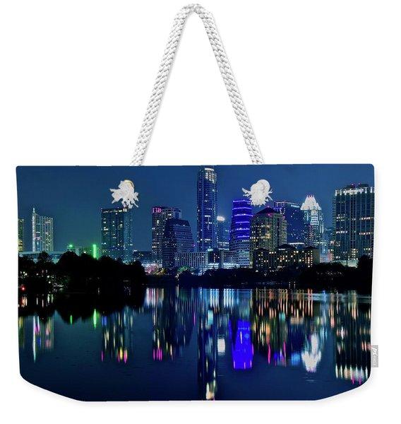 Austin Night Reflection Weekender Tote Bag