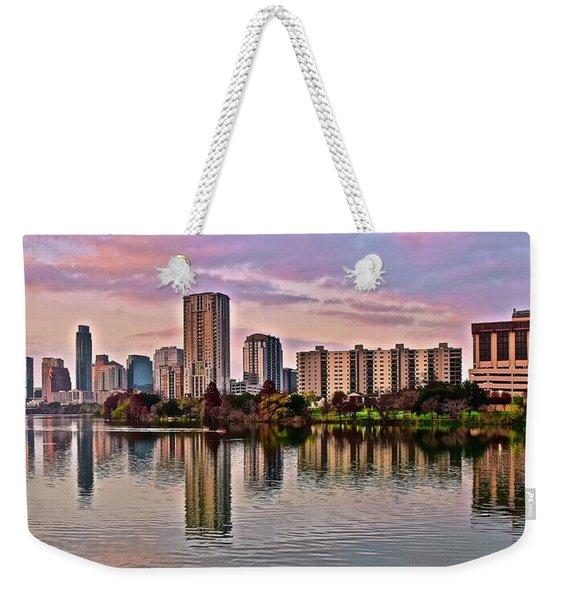 Austin River Walk Sunset Weekender Tote Bag