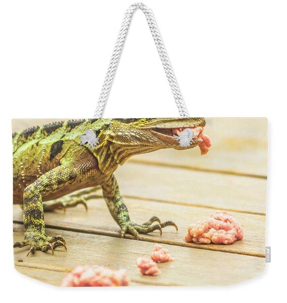 Australian Water Dragon Weekender Tote Bag
