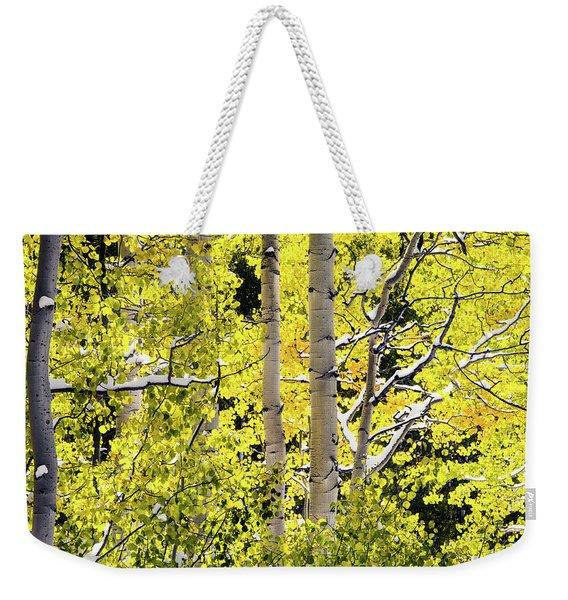 Autumn Aspens 3 Weekender Tote Bag