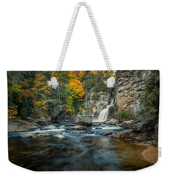 Autumn At Linville Falls - Linville Gorge Blue Ridge Parkway Weekender Tote Bag
