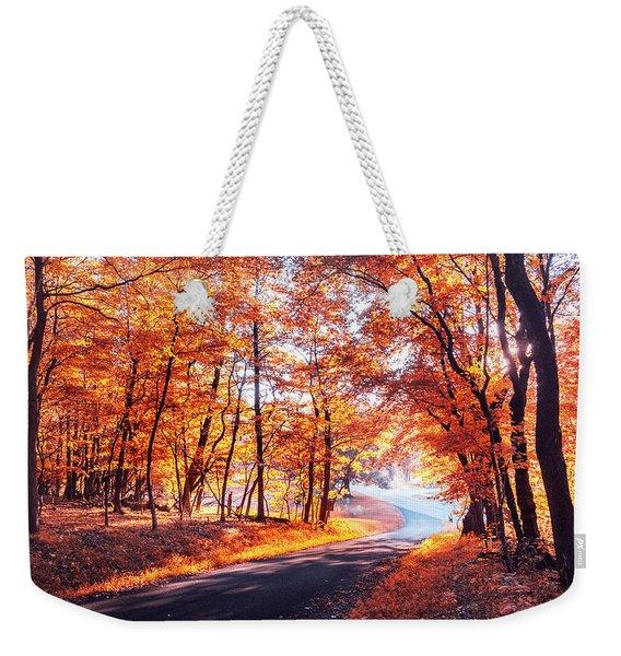Autumn Calling Weekender Tote Bag