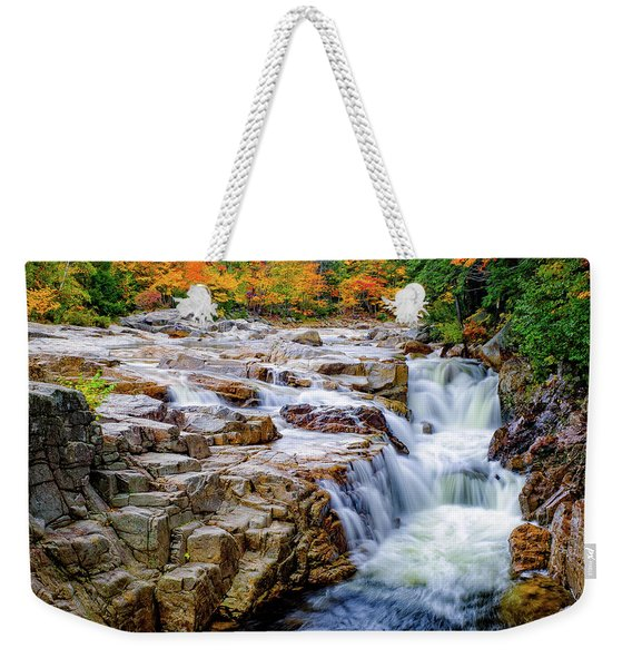 Weekender Tote Bag featuring the photograph Autumn Color At Rocky Gorge by Jeff Sinon