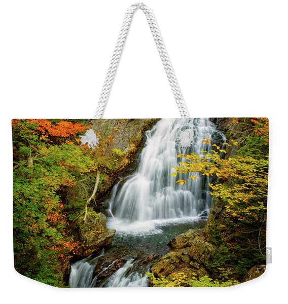 Weekender Tote Bag featuring the photograph Autumn Falls, Crystal Cascade by Jeff Sinon