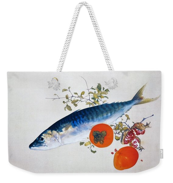 Autumn Fattens Fish And Ripens Wild Fruits - Original Color Edition Weekender Tote Bag