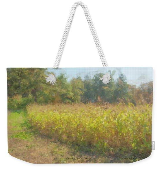 Autumn Field In Sunlight Weekender Tote Bag