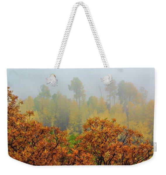 Autumn Foggy Day Weekender Tote Bag