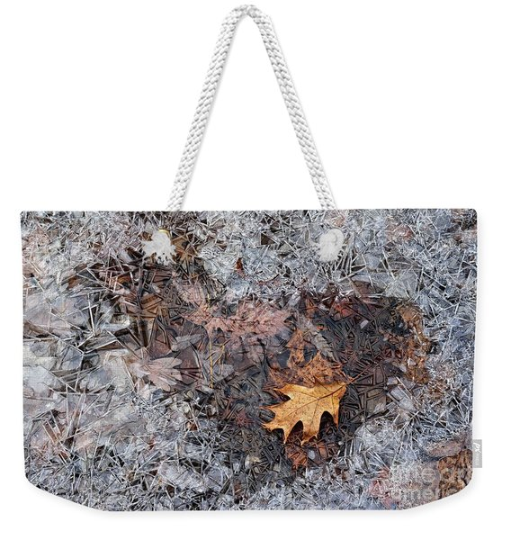 Autumn Freezing Over Weekender Tote Bag