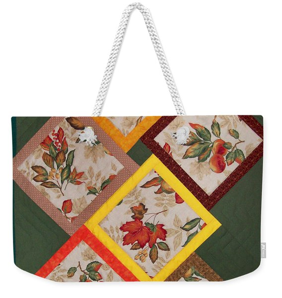 Autumn Fruit And Leaves Weekender Tote Bag