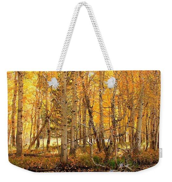 Autumn Gold Rush Weekender Tote Bag