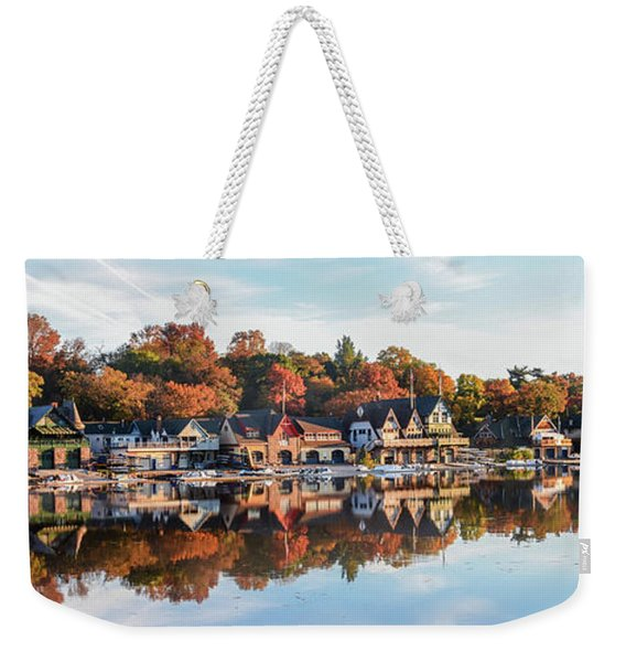 Autumn Houses On The Water Weekender Tote Bag