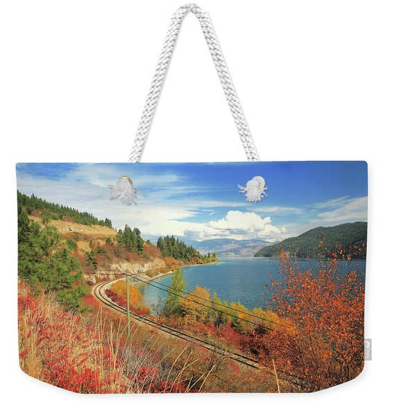 Autumn In Oyama And Kalamalka Lake Weekender Tote Bag