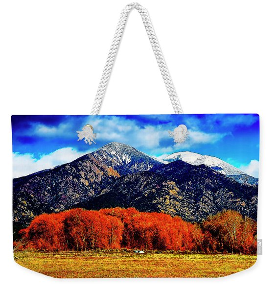 Autumn In Taos New Mexico Weekender Tote Bag