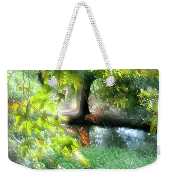 Autumn Leaves In The Morning Light Weekender Tote Bag