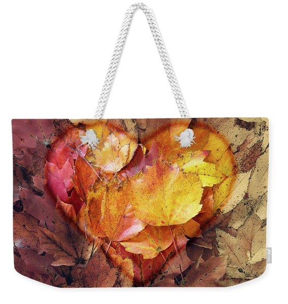 Autumn Love Weekender Tote Bag