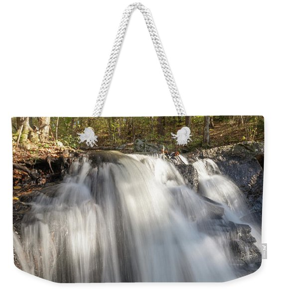 Weekender Tote Bag featuring the photograph Autumn - Secret Waterfall 3 by Brian Hale