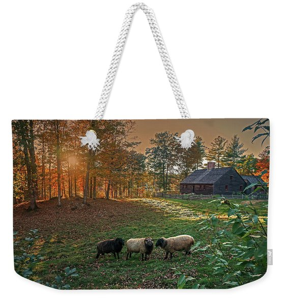 Autumn Sunset At The Old Farm Weekender Tote Bag