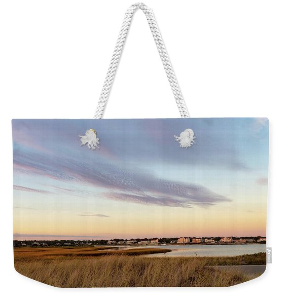 Autumn Sunset At West Dennis Beach Cape Cod Weekender Tote Bag