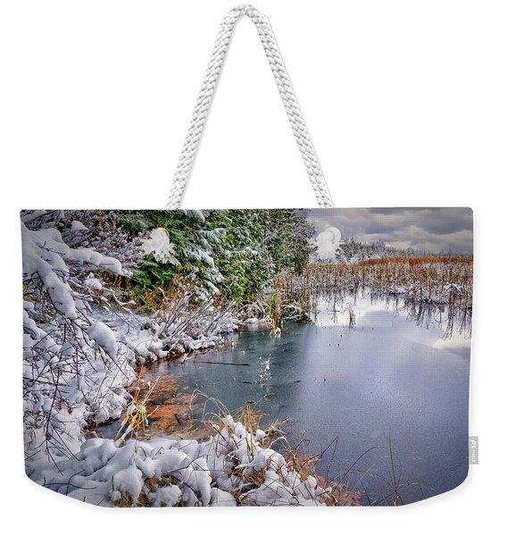 Autumn To Winter Weekender Tote Bag