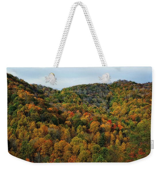 Autumn View Of The Bald Mountains  Weekender Tote Bag