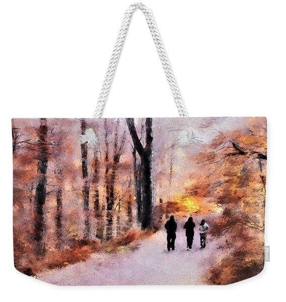 Autumn Walkers Weekender Tote Bag