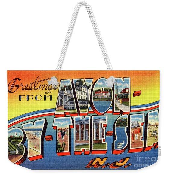 Avon-by-the-sea Greetings Weekender Tote Bag