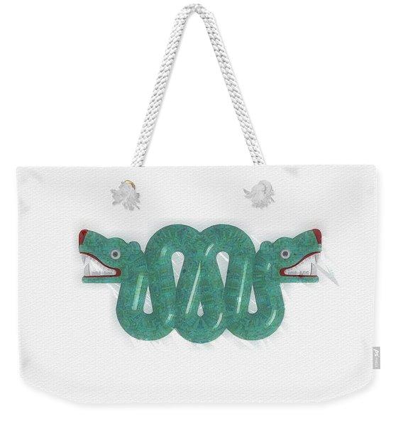 Aztec Serpent Weekender Tote Bag