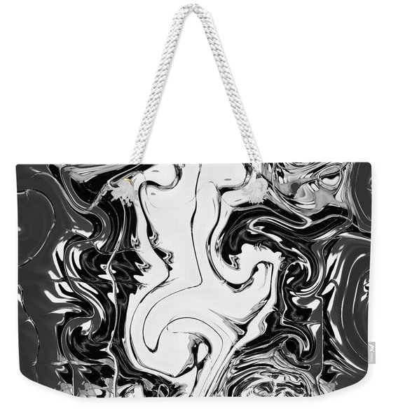 Weekender Tote Bag featuring the painting B Winer And Move by A zakaria Mami