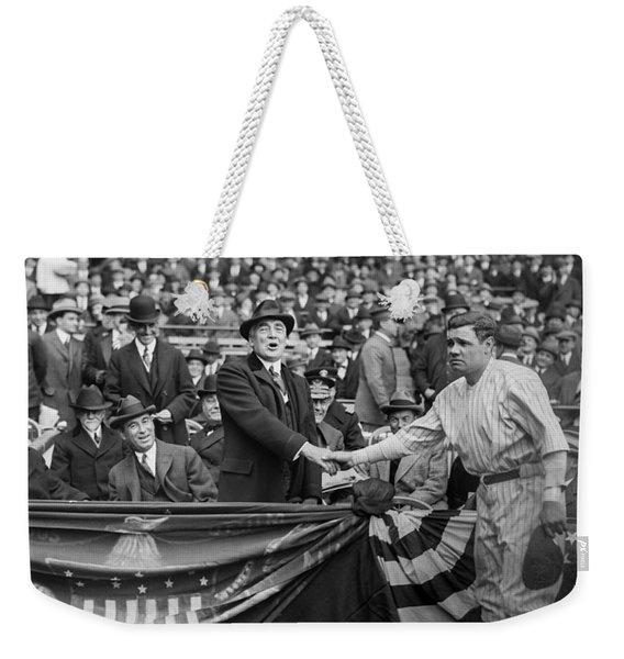 Babe Meets The President Weekender Tote Bag