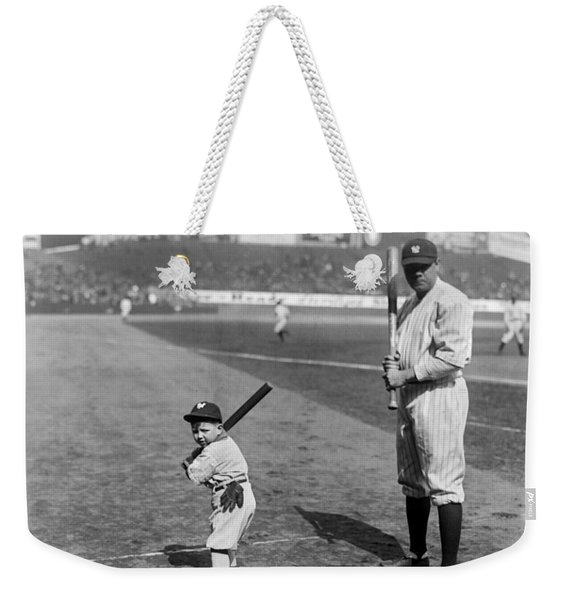 Babe Ruth And The Team Mascot Weekender Tote Bag