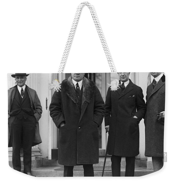 Babe Ruth At The Whitehouse Weekender Tote Bag
