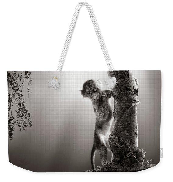 Baby Baboon Weekender Tote Bag
