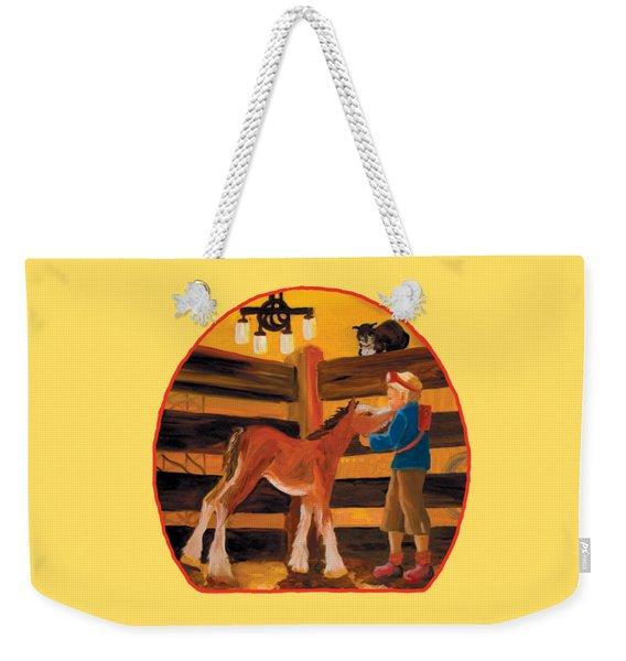 Baby Cricket's Kiss Weekender Tote Bag