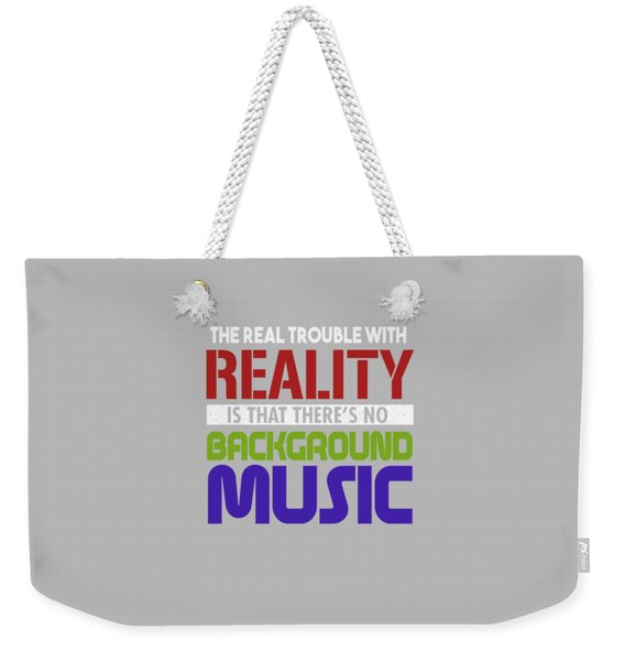 Background Music Weekender Tote Bag