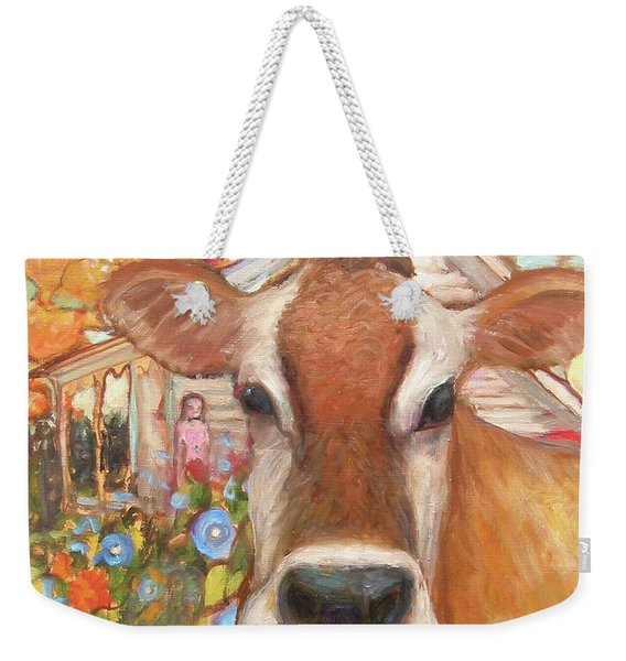 Backyard Cow Weekender Tote Bag