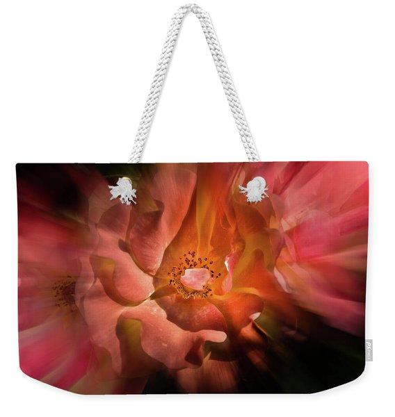 Backyard Flowers 40 Color Flow Version Weekender Tote Bag