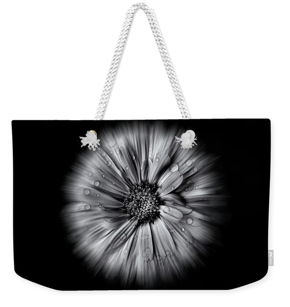 Backyard Flowers In Black And White 10 Flow Version Weekender Tote Bag